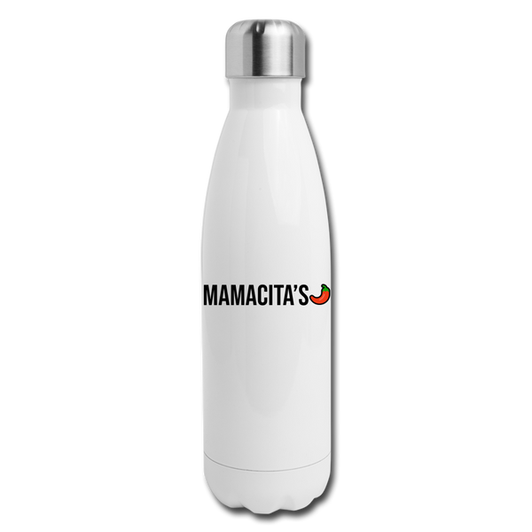 Mamacita's Logo Water Bottle - white