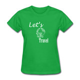 Let's Travel (White) - bright green