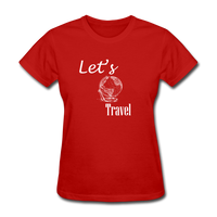 Let's Travel (White) - red