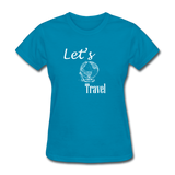 Let's Travel (White) - turquoise