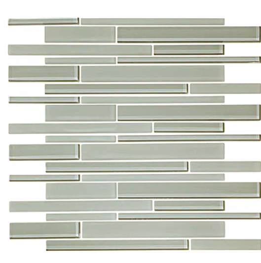 Sterling Gray Horizontal lines mosaic tile
