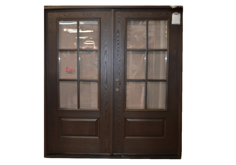 Double Entry Door w/ 3/4 View 6 lite TDL Clear Glass Left Hand FO201-DD-7280DW