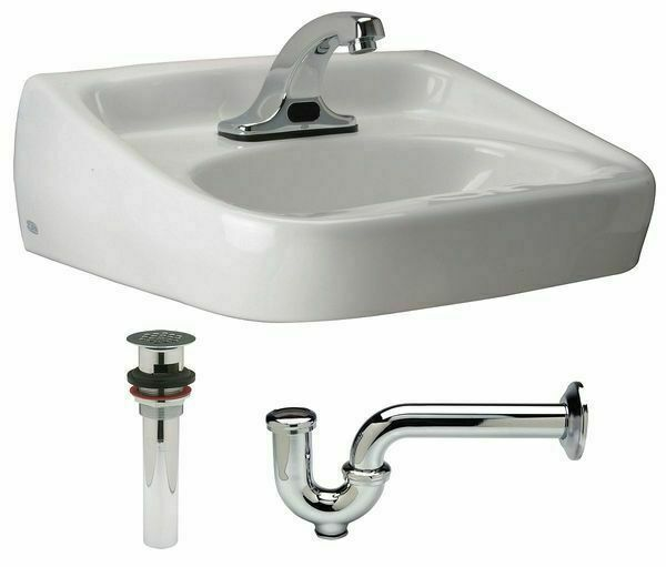 ZURN Z5354.664.1.07.00.0 Lavatory Sink,White,Brass,7 in.Overall H