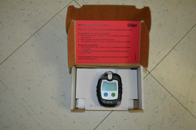 Drager PAC 3500 Single Gas Detector New