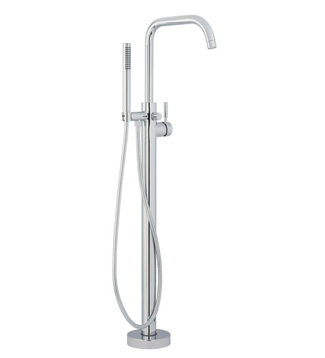 Mirabelle Edenton MIREDFS1000GCP, Floor Mounted Tub Filler,  Polished Chrome