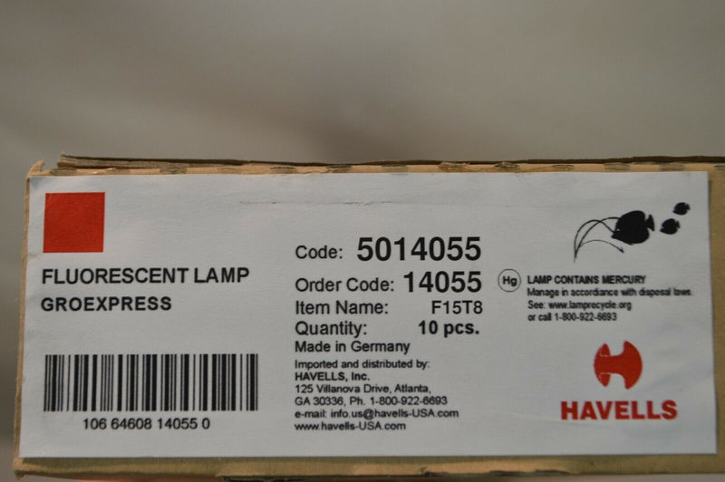 Havells F15T8 Fluorescent Lamp (10 pack)