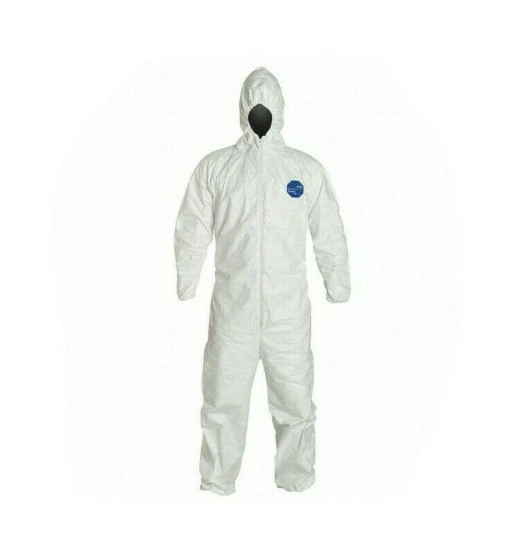 Dupont Tyvek 400 Coverall, Size 2x, qty 6 pcs