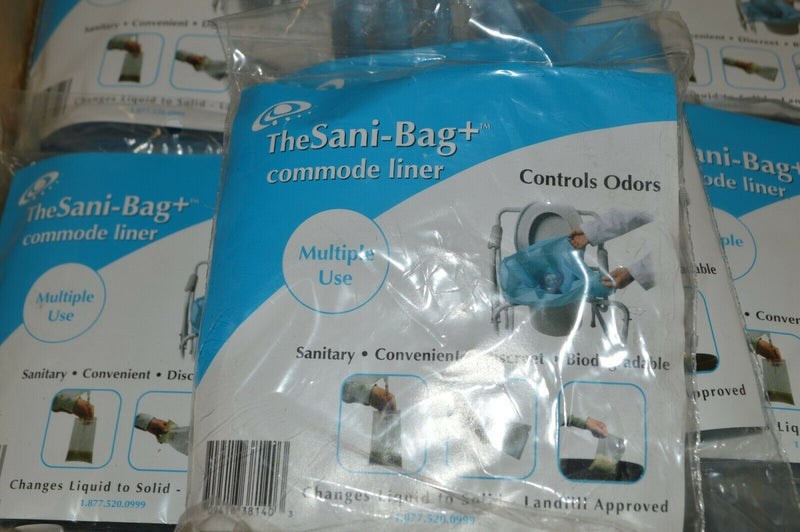 Pack of 25 Sani Bag and Bedside Toilet Commode Pail Liner controls odor