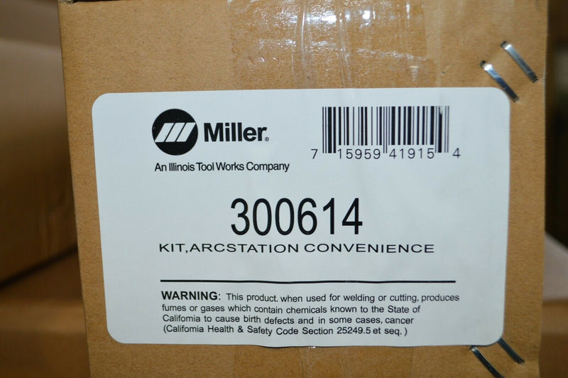 MILLER ELECTRIC 300614 Convenience Kit,3-1/2W x 29D x 3H,Gray