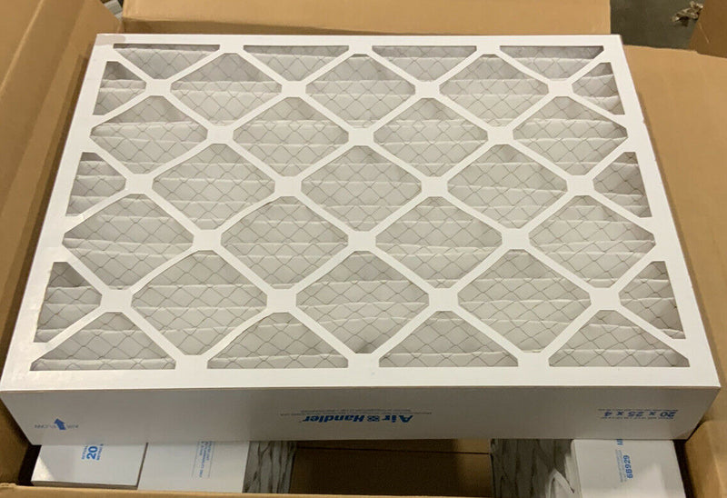 Air Handler 20x25x4 Pleated Air Filter, Merv 8, Model 6b929, 4 pack