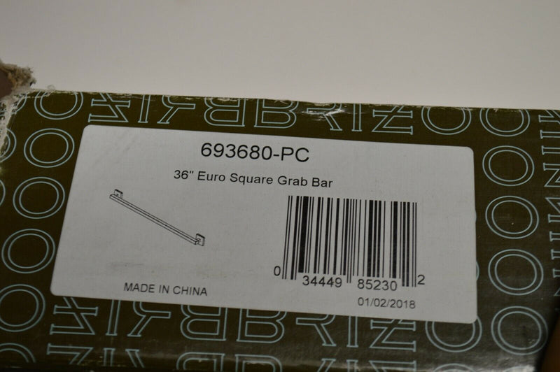 "Brizo 693680-PC 36"" Euro Square Grab Bar"