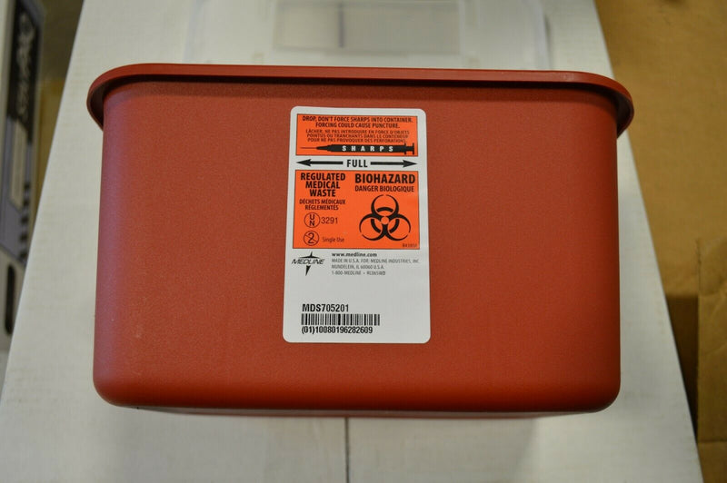 Medline Sharps 1 gallon Bio hazar Container Needle Disposal Doctor Tattoo qty 10