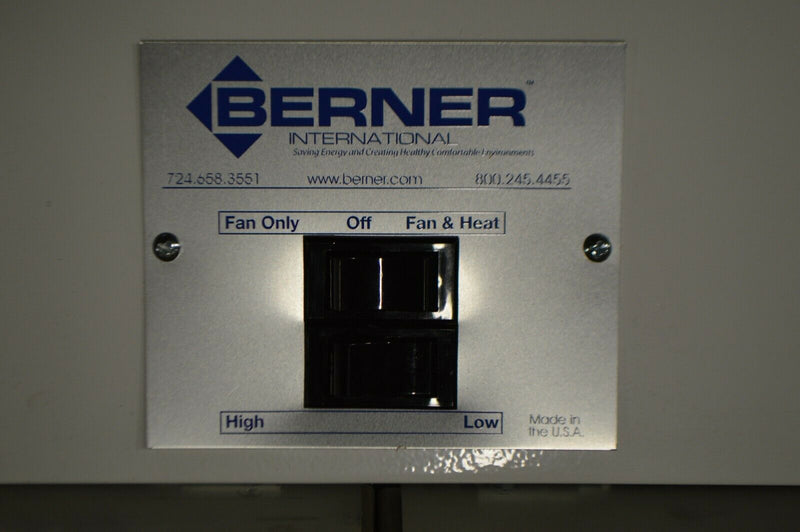 Berner CLC08-1072EX-150-G , low profile air curtain, 2870 fpm