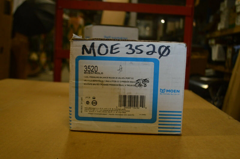 Moen 1-HDL Pressure alance Rough-in Valve 4 port, Model 3520
