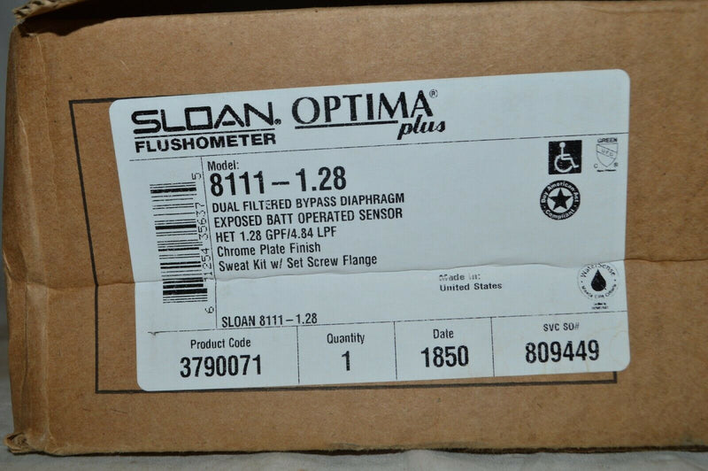 Sloan 8111-1.28 Sensor Activated Optima Plus G2 Water Closet Flushometer Sensor