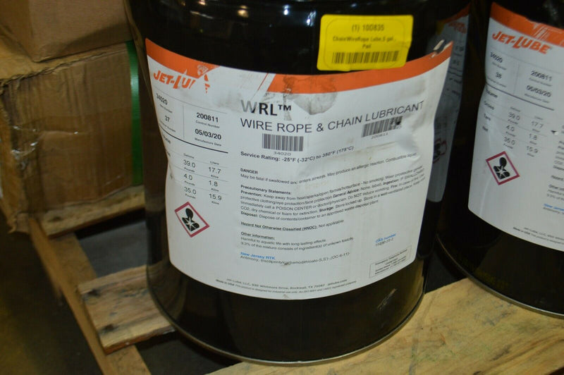 Jet- Lube Chain wire rope lube 5 gal  pail