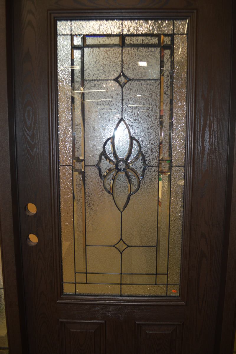 3/4 View Leaded Glass Door w/ Side Lights Left Hand FO301A-36-10-10DW