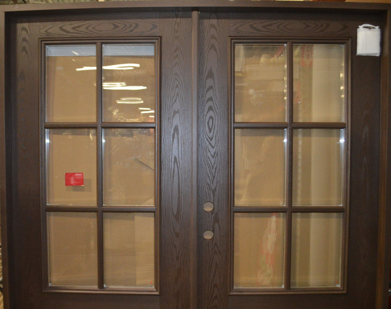 Double Entry Door w/ 3/4 View 6 lite TDL Clear Glass Right Hand FO201-DD-7280DW