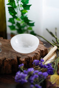 Selenite Crystal Round Bowl