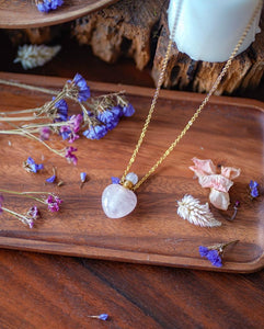 Crystal Perfume Bottle Necklace