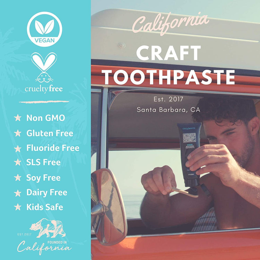 Charcoal & Organic Coconut Teeth Whitening Toothpaste
