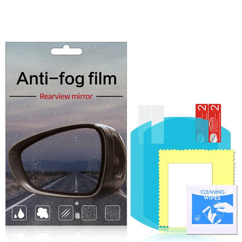 2PCS Car Rearview Mirror Protective  Anti Fog Film