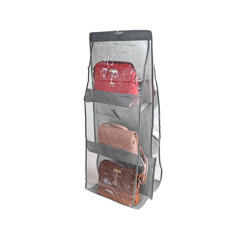 6 Pocket Folding Hanging Handbag Organizer