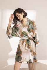 New Ladies Silk Satin Thin Robe Comfort Fresh Style 2020 Spring