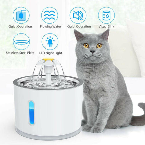 Pet's Water Fountain Drinking Dispenser