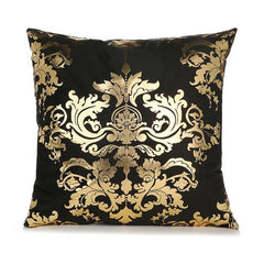Golden Painted Pillowcase Decorative Christmas Cushion Cover