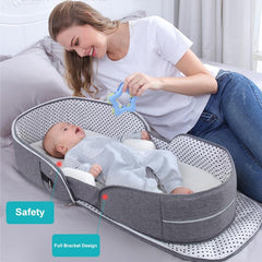 Multi-Function Sleeping Baby Bed Crib with Mosquito Nest