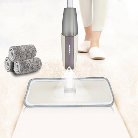 Spray Floor Mop with Reusable Microfiber Pads 360 Degree