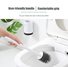 Toilet Brush Rubber Head Holder Cleaning