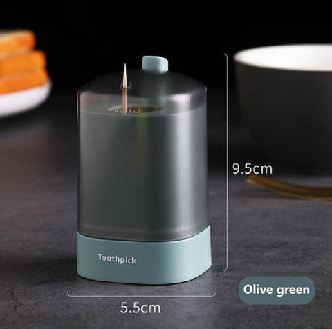1PC Creative & Automatic Pop-up Toothpick Holder  Box