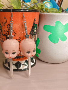 Baby Head Earrings