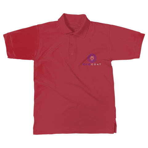 eco friendly, environmental friendly, ecological, bio, biological, reusable, environmentalist, organic, green, sustainable clothing, sustainable fashion, sustainable brands, sustainable development. plastic free shop, organic cotton, polo, polo shirt. red,