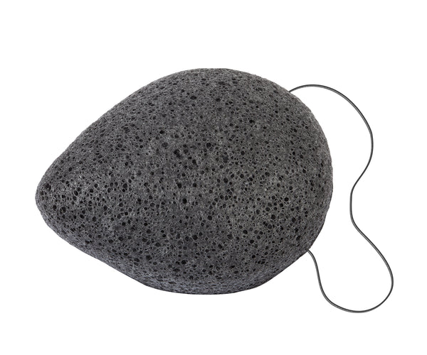 konjac sponge, charcoal, sustainable, plastic free, vegan, skin care,