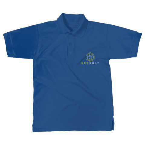eco friendly, environmental friendly, ecological, bio, biological, reusable, environmentalist, organic, green, sustainable clothing, sustainable fashion, sustainable brands, sustainable development. plastic free shop, organic cotton, polo, polo shirt, blue,