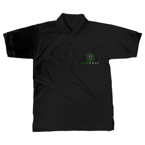 eco friendly, environmental friendly, ecological, bio, biological, reusable, environmentalist, organic, green, sustainable clothing, sustainable fashion, sustainable brands, sustainable development. plastic free shop, organic cotton, polo, polo shirt, black,