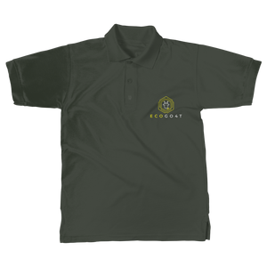eco friendly, environmental friendly, ecological, bio, biological, reusable, environmentalist, organic, green, sustainable clothing, sustainable fashion, sustainable brands, sustainable development. plastic free shop, organic cotton, polo, polo shirt, dark green,