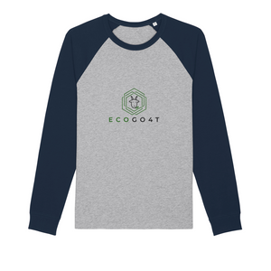 Baseball Organic Long Sleeve Navy & Grey