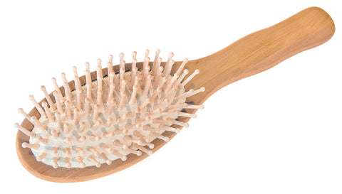 Wooden Pins Wooden Oval Hair Brush