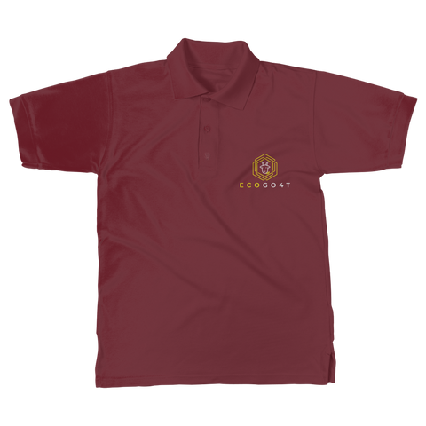 eco friendly, environmental friendly, ecological, bio, biological, reusable, environmentalist, organic, green, sustainable clothing, sustainable fashion, sustainable brands, sustainable development. plastic free shop, organic cotton, polo, polo shirt, maroon,