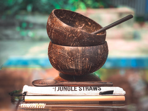 eco friendly, environmental friendly, ecological, bio, biological, reusable, environmentalist, organic, green, sustainable clothing, sustainable fashion, sustainable brands, sustainable development. plastic free shop, organic bowl, bowl set, wood spoon ,jungle straw