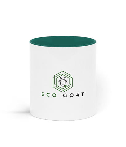 eco friendly, environmental friendly, ecological, bio, biological, reusable, environmentalist, organic, green, sustainable clothing, sustainable fashion, sustainable brands, sustainable development. plastic free shop, ceramic, two toned, mug, two toned mug, ceramic mug, white, green,