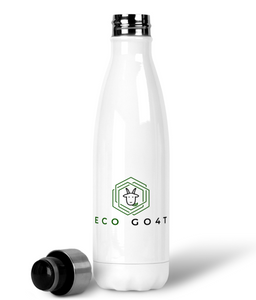 eco friendly, environmental friendly, ecological, bio, biological, reusable, environmentalist, organic, green, sustainable clothing, sustainable fashion, sustainable brands, sustainable development. plastic free shop, durable, tumbler, stainless steel, water bottle, white