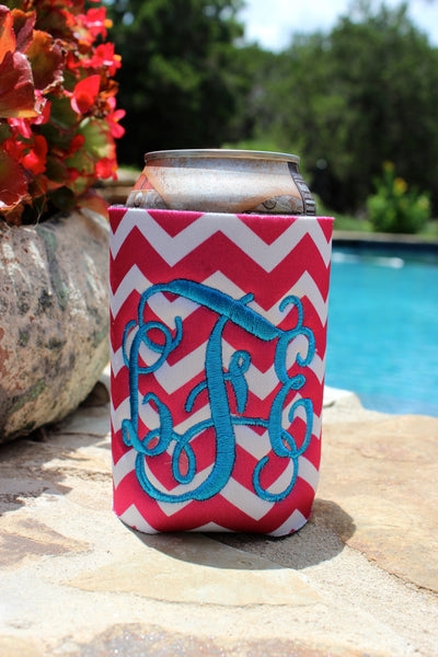 Monogrammed Embroidered Koozies