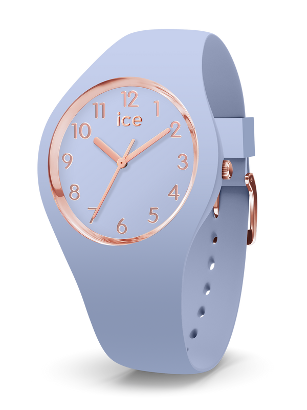ICE WATCH Glam Colour Collection Rose Gold Case 34mm (S) Sky Blue Dial Sky Blue Strap