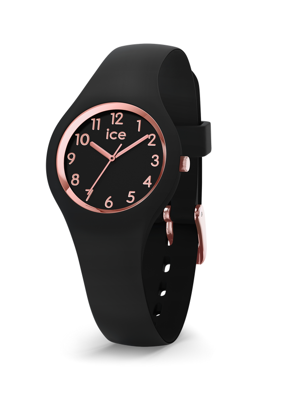 ICE WATCH Glam Black Rosegold Numbers Extra Small 3H