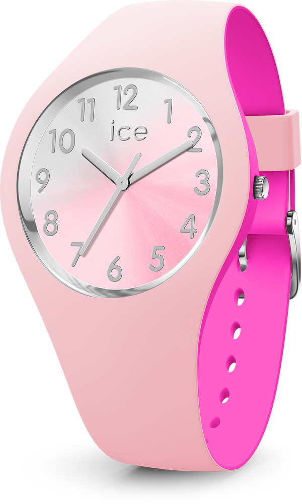 ICE WATCH Duo Chic Pink Silver Small 3H